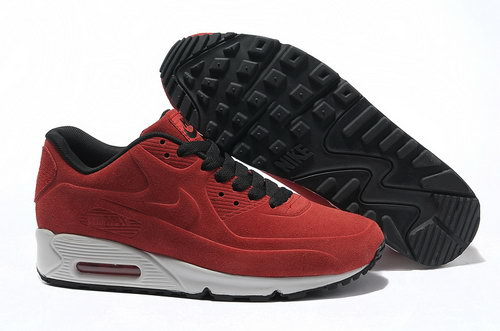 Nike Air Max 90 Vt Unisex Red Black Running Shoes Clearance